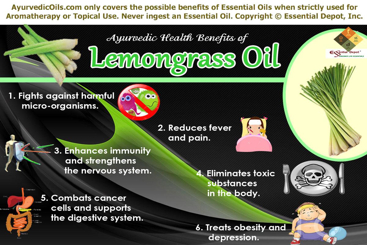 Health benefits of Lemongrass essential oil | Essential Oil