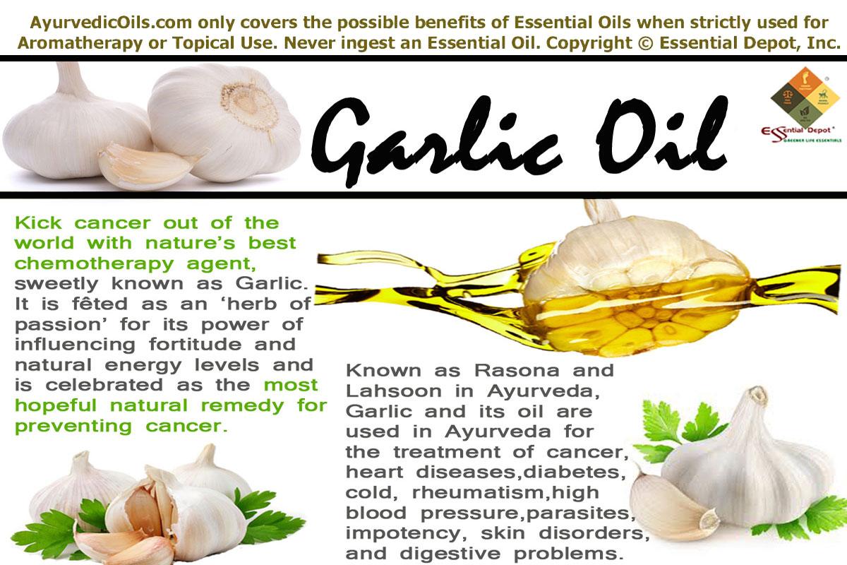 health benefits of garlic oil | essential oil
