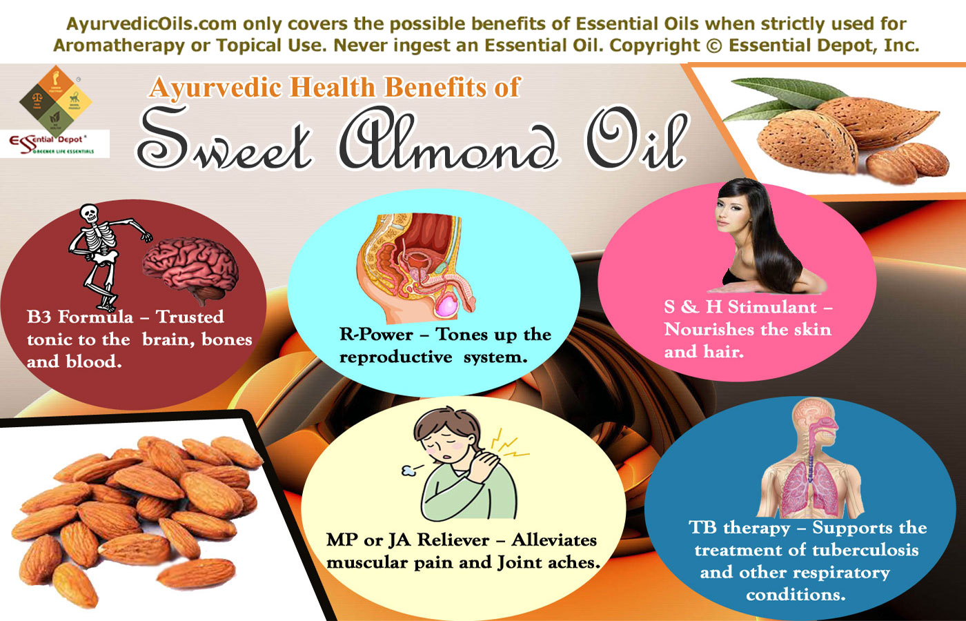 health benefits of almond oil | essential oil